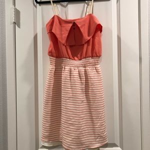 Cream & Coral Sun Dress Size M